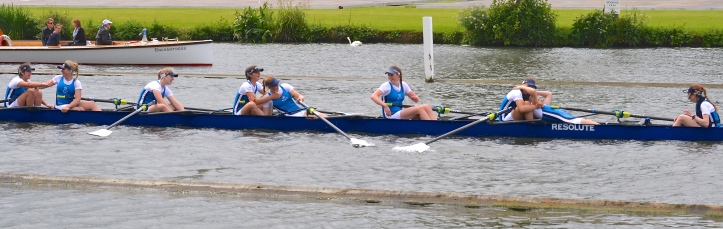 Junior Eights: Headington School beat National Cathedral, USA, by 2 3/4 lengths.