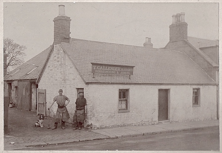 A picture from the history section of the Laurencekirk community website. It shows a 'smiddy house' (blacksmith) in the village main street. This may just be wishful thinking on my part, but I really think that the tall, lanky teenage apprentice on the left could be Wally. Even if it is not, it is a scene not very different to what he would have experienced in his first workplace.