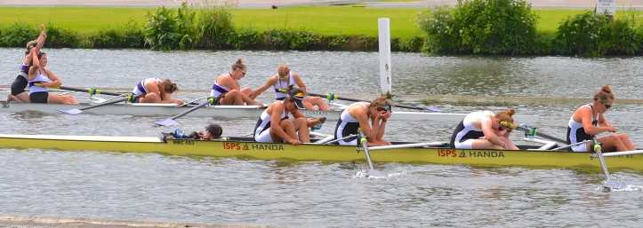 Senior Coxed Fours: University of London beat Molesey by 1 length.