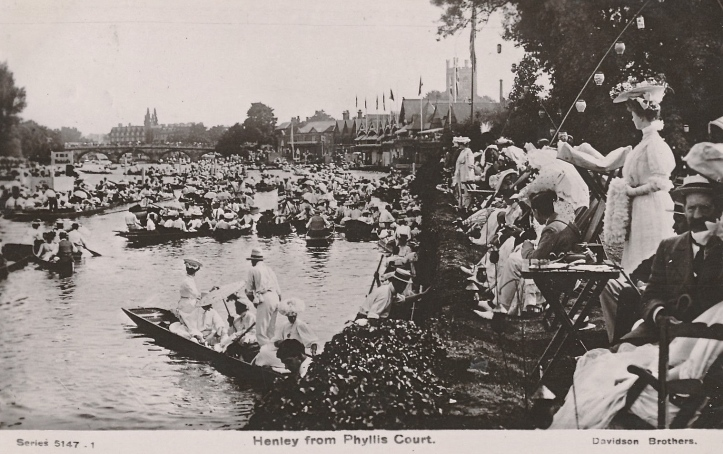 Viewing Henley from the Fawley Meadows side c. 1908.