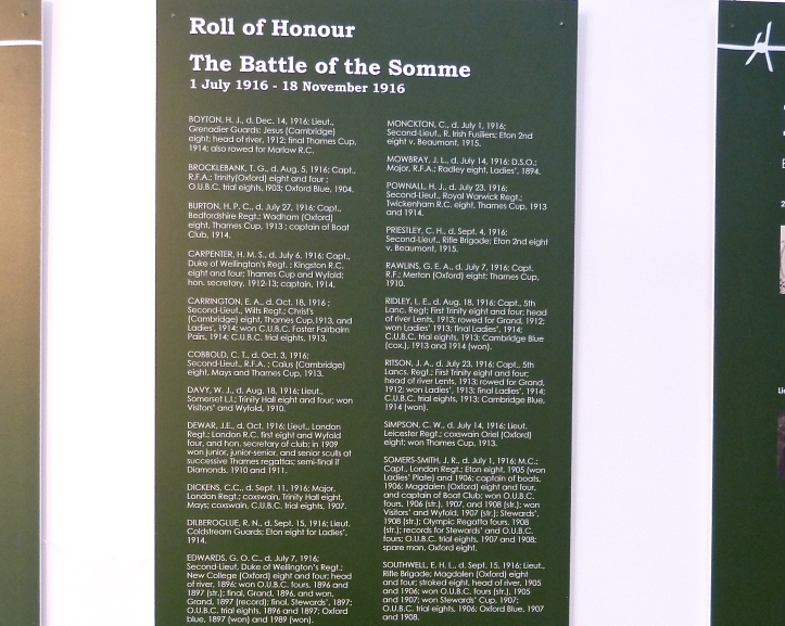 The Rowing Role of Honour for the Battle of the Somme. Click to enlarge.