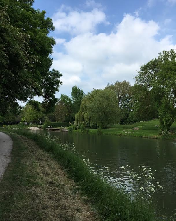 Ditton Corner, looking downstream towards the Plough.