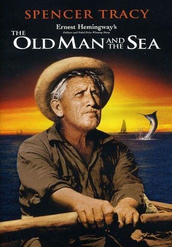 In the film The Old Man and the Sea, based on Hemingway's novel, Spencer Tracy is playing the old Cuban fisherman Santiago, who is battling a giant marlin in his small fishing boat out in the Gulf Stream.