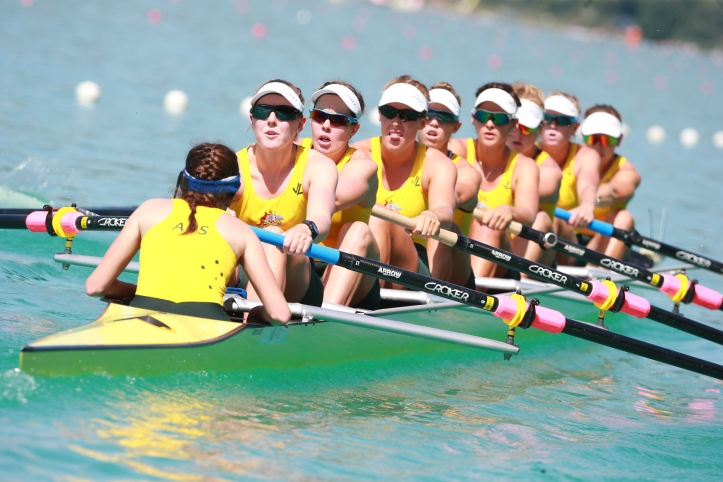 The Australian women's eight is now going to the Olympics in Rio. Photo: Australian Rowing.