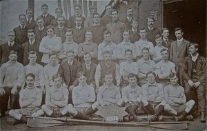Henry Allingham is fourth from the left in the second row of this picture of the members in 1911.