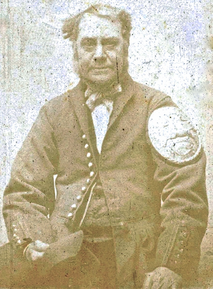 Flashback to 1824: When George Fogo (pictured in the 1850s) entered Doggett's, he had to be lucky in the draw for places before he could even get his one chance at winning. His grandfather had similar good luck, winning in 1769. Picture: bargemen.co.uk