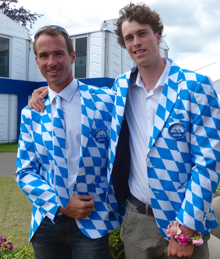 The distinctive blazers of Lausanne-Sports Aviron from Switzerland. The cafés of Lausanne may be missing many of their tablecloths.