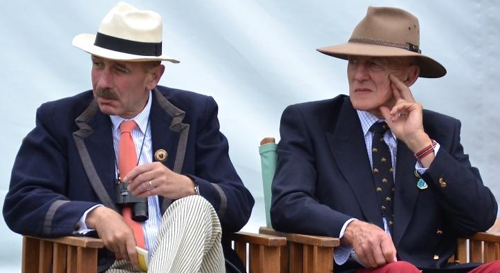 These splendid gentlemen are my two favourite spectators.