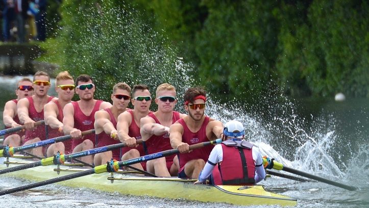 Oxford Brookes University 'A' who beat Yale University, USA, by 1 3/4 lengths in the Temple Challenge Cup (Men's Student Eights).