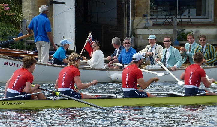 Smiles for the winning Hollandia crew who dominated their race from the start.