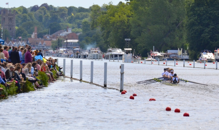 Molesey Boat Club 'A' who beat Roeivereeniging Willem III, Holland, by 3/4 length in the Thames Cup (Men's Club Eights).