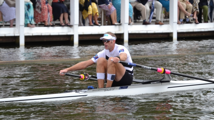 The Diamond Sculls (Men's Open Single Sculls): Mahé Drysdale, West End Rowing Club, New Zealand, beat C.J.H. Berrest, Aviron Toulousain, France, by 3 1/4 lengths. Olympic champion Drysdale is chasing a landmark victory as part of his preparation for the Rio Games. He has won the Diamonds five times and a victory this year would equal the record six wins of Stuart 'Sam' Mackenzie of Australia between 1957 and 1962.
