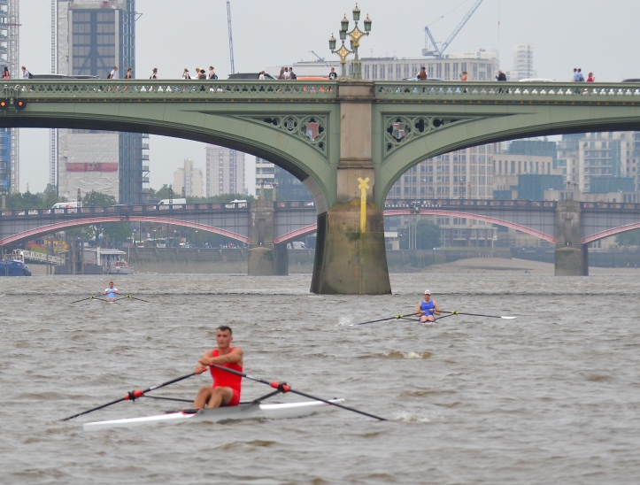 At Westminster Bridge the positions were unchanged; Folkard, Anderson, Berry.