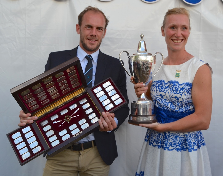 Double Sculls. Obreno, winner of the Diamonds, and Scheenaard, winner of the Princess Royal.