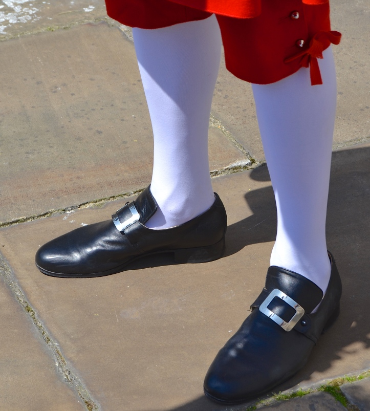 White stockings and buckled shoes complete the outfit of an Eighteenth Century Waterman, a prize desired as much by the young men who competed in 2016 as it was by their predecessors in 1715.