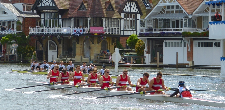 Molesey Boat Club (background) repeat their recent Thames Cup victories of 2009 and 2012.