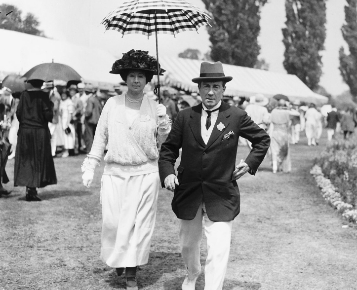 Three times Prime Minister Stanley Baldwin and his wife, Lucy, at Henley Royal Regatta in 1924.