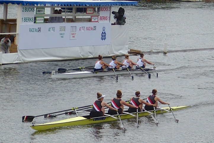 The remarkable Gloucester crew went onto win by 1 1/3 lengths.