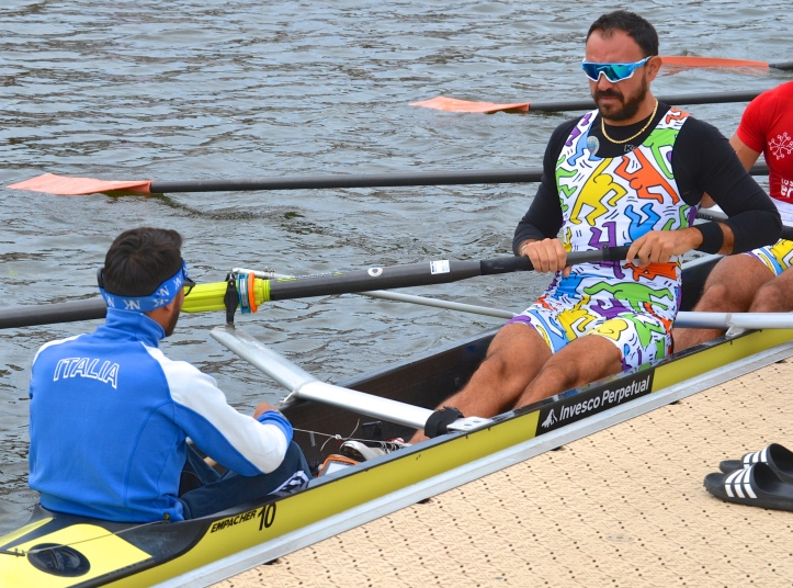 Team Italia, Italy, who are entered in The Grand Challenge Cup (Open Men's Eights). Traditionally, Italians have a great sense of style. This seems to be a break with tradition.