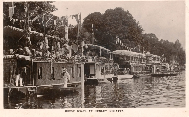 Before the 1914 -1918 War, houseboats lined the Bucks bank. The look very romantic but there were constant complaints that their lavatories discharged directly into the river.