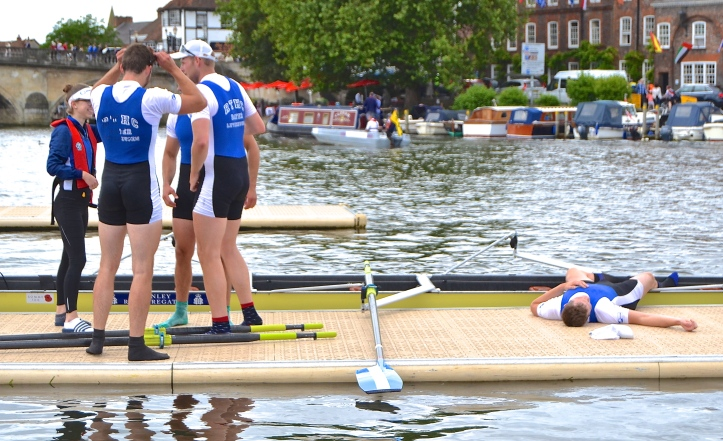 'I'm sure that there were four of us rowing…….'
