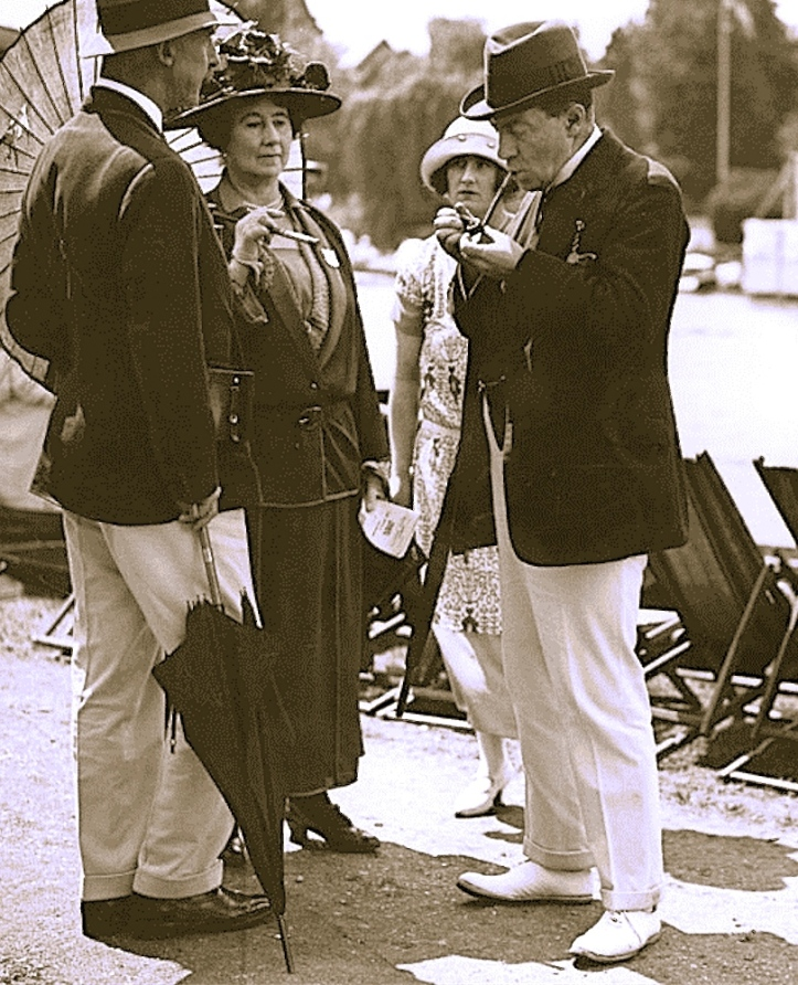 Baldwin with his wife and daughter at Henley in 1924.