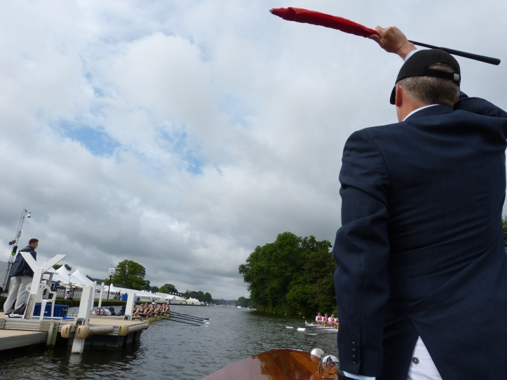 The first part of the Henley starting procedure is for the umpire to say: 'When I see that you are straight and ready, I shall start you like this. Attention. Row. Get ready, please'. Legend has it that umpires are reprimanded if they say 'I will start you…..' This is because, as we all know, in strict British grammar, 'will' should only be used with second and third person pronouns and that 'shall' is the correct verb to talk about the future when using first person pronouns. Tom Weil, the HTBS grammertarian, may wish to confirm this.