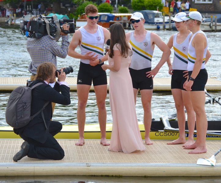 Claires Court School find that winning Henley is a good way to meet girls.