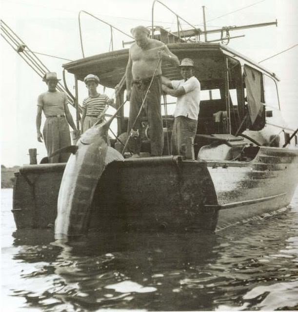 Pilar - Ernest Hemingway's Fishing Boat, with marlin