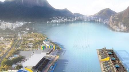 The Lagoa Stadium at the Rodrigo de Freitas Lagoon in Rio. Photo: FISA.
