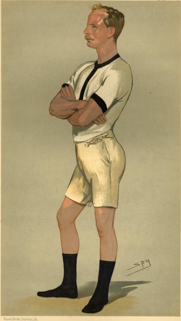 Guy Nickalls picture in 1889, two years after the McLean's fateful last Boat Race.