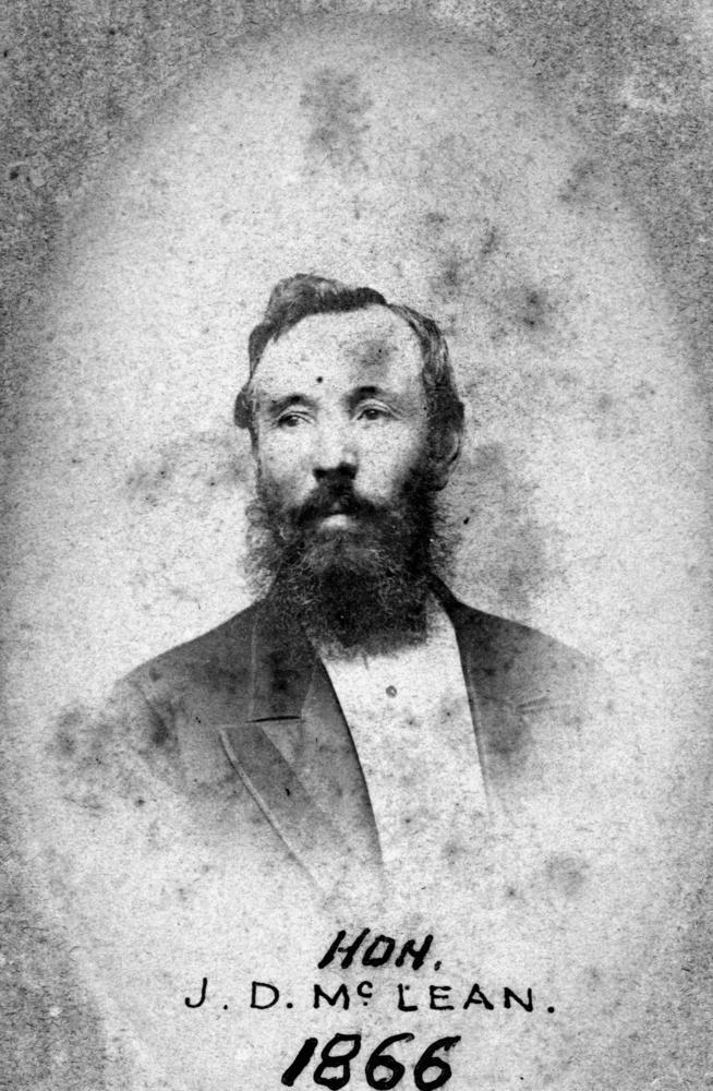 John McLean in 1866.