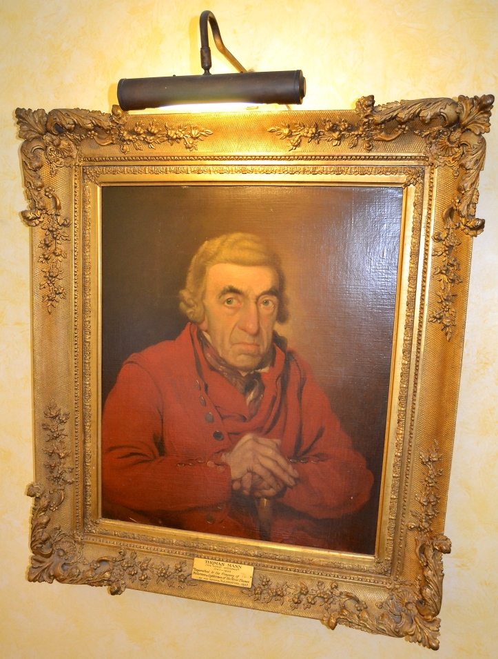 Hanging in Waterman's Hall, a painting of Thomas Mann, 'The Honest Waterman' (1747-1822). Mann does not seem too happy – even though he is free of the restrictions traditionally placed upon those apprenticed to work the Thames.