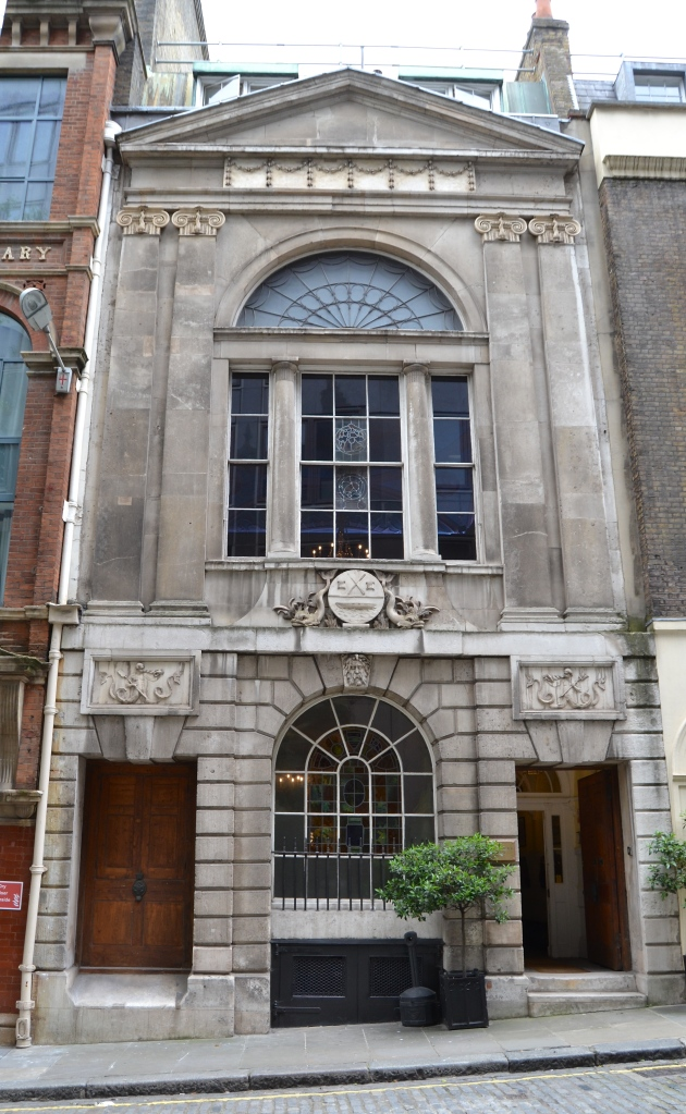 The exterior of Waterman's Hall, St Mary-at-Hill, London EC3.