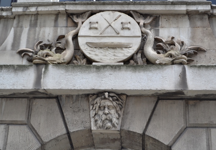 The Company's Coat of Arms and Old Father Thames.