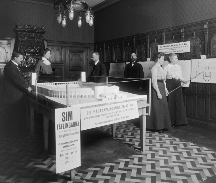 The 1912 Olympic Games were indeed awarded to Sweden. This is the Games ticket office in Stockholm with a model of the Stadium. Picture: stockholmskallan.se