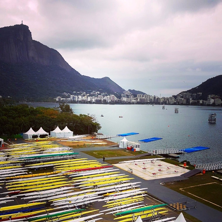 @PhelanHill, posted 4 Aug. Overlooking the Olympic boat park. Nice pieces on the surprising history of boat racing in Rio are on worldrowing.com