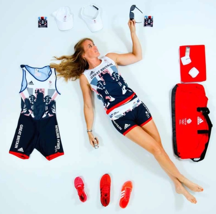 @Helenglovergb. Kit and pose, 2016 Olympics.