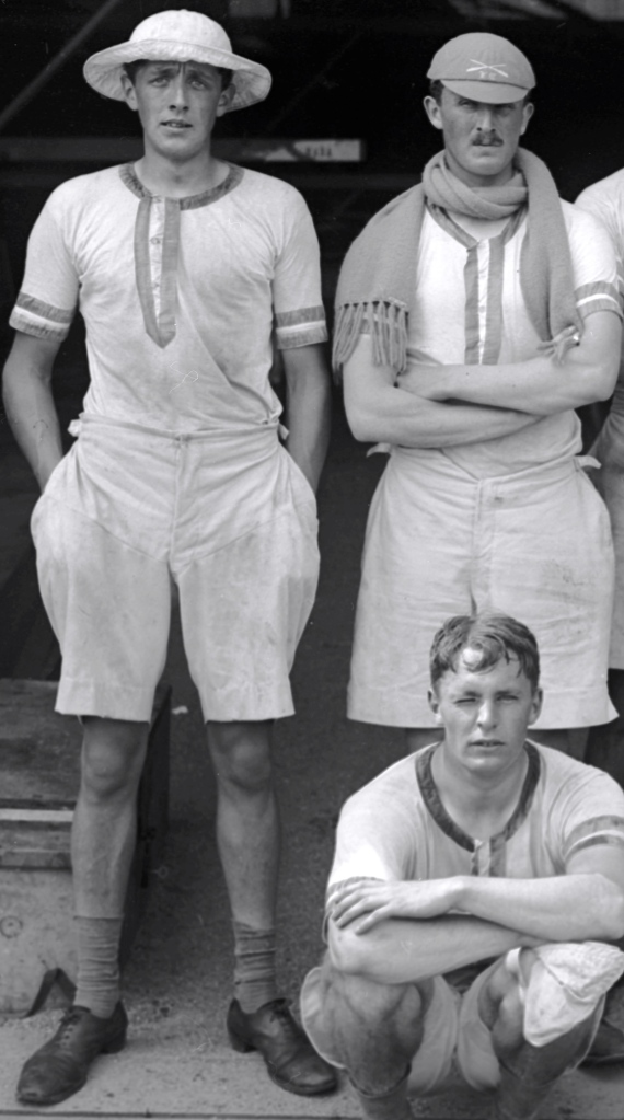 Compare with kit and pose, 1912 Olympics.