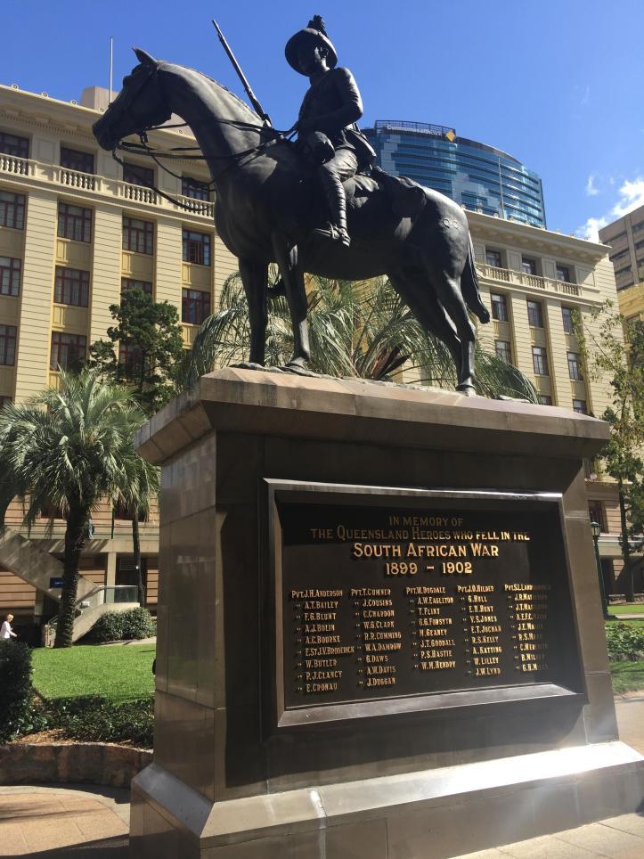 The Boer War Memorial in Brisbane, Queensland.