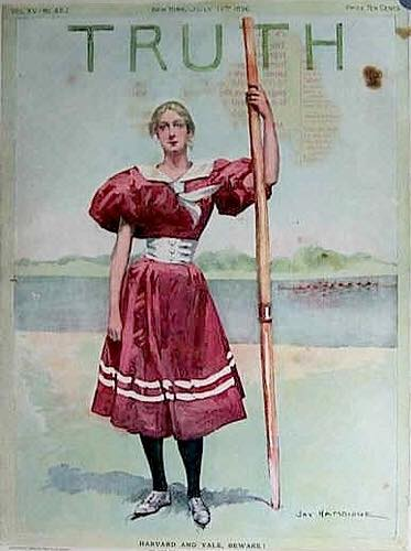 TRUTH magazine cover c.1896 – 'Harvard and Yale Beware'.