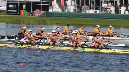 U-23 Men's Quadruple Sculls, Rotterdam. Photo: FISA/Worldrowing.org.