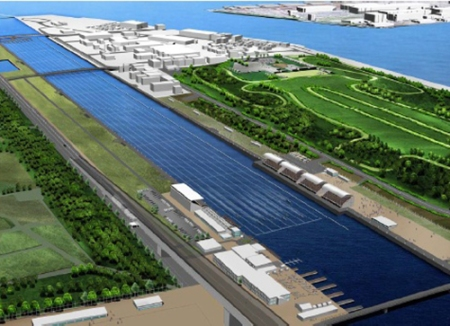 The Tokyo 2020 Olympic rowing regatta course