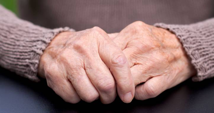 Hands of old-woman