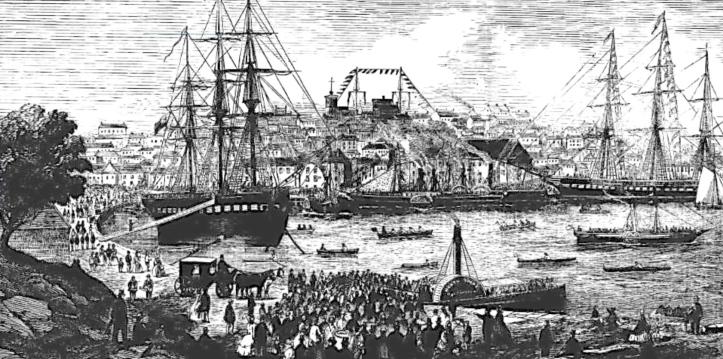 Boat racing, Sydney, 1866.