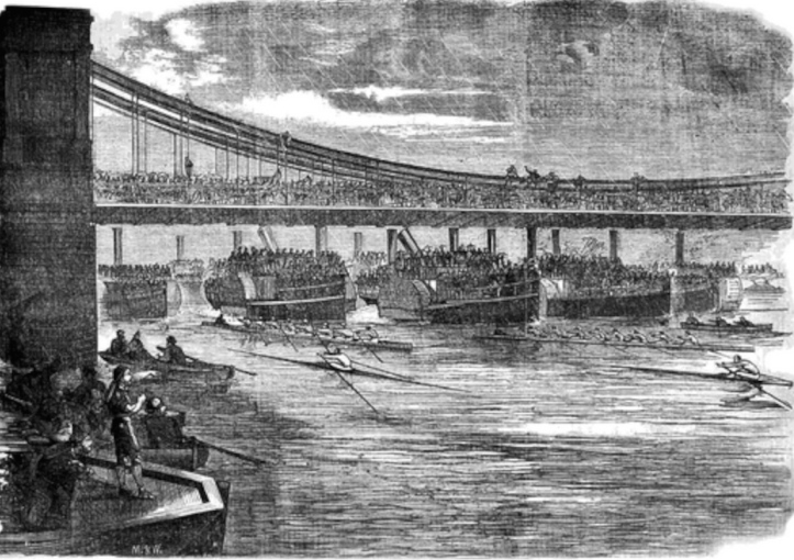 The race at Hammersmith Bridge.