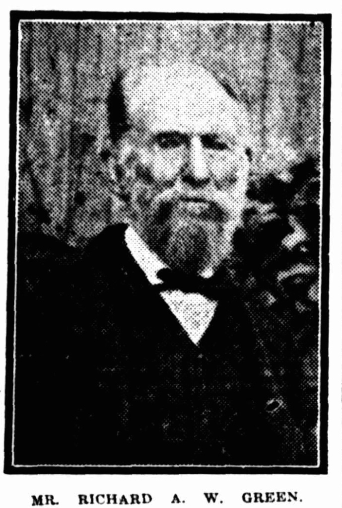 Green aged 84 in 1920, a year before his death.