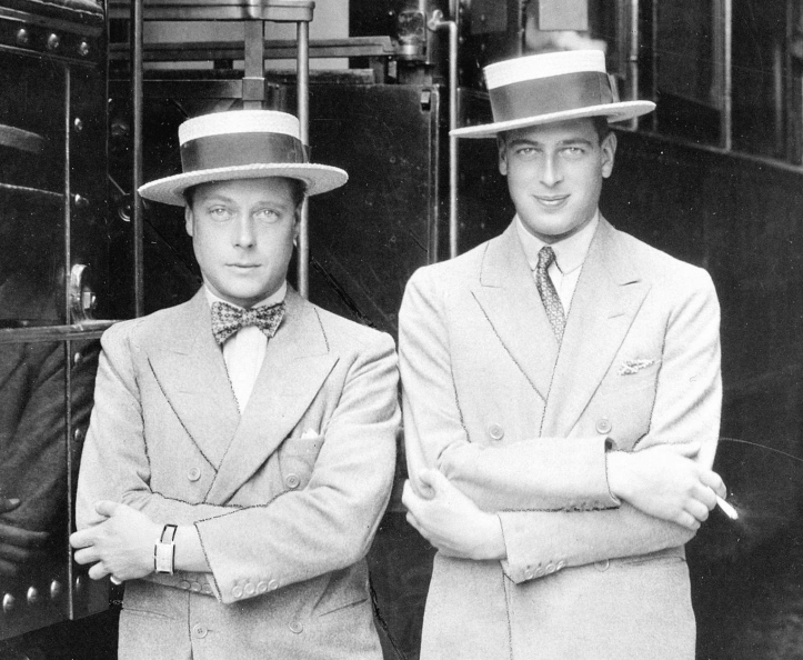 The Prince of Wales (left), the future Edward VIII, and his younger brother, Prince George (right) were part of the glamorous set that attended social events at the Guards Club. George was even more 'colourful' https://en.wikipedia.org/wiki/Prince_George,_Duke_of_Kent#Personal_life than his better-remembered sibling.