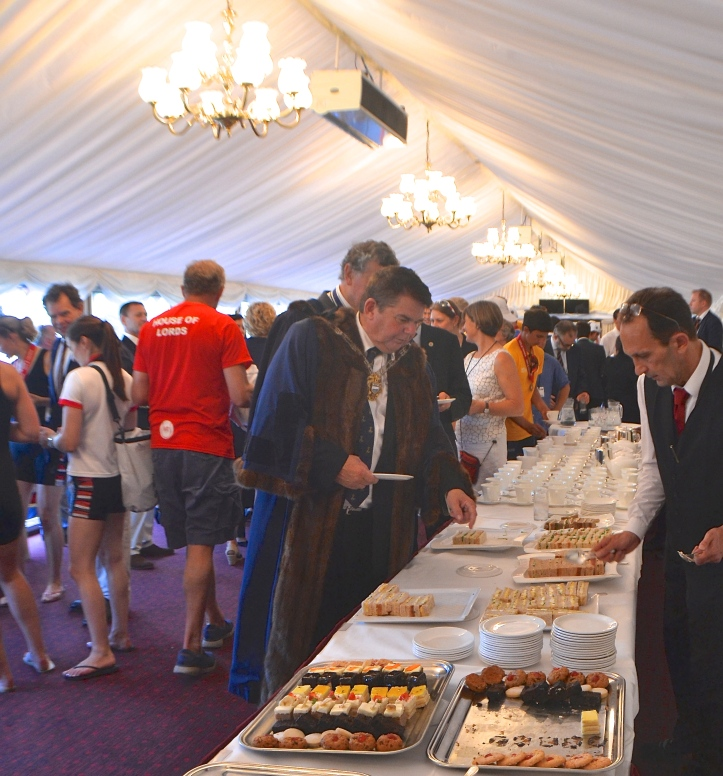 At the conclusion of racing, rowers, officials, sponsors and supporters retired to the Lords for the prize-giving and for afternoon tea.