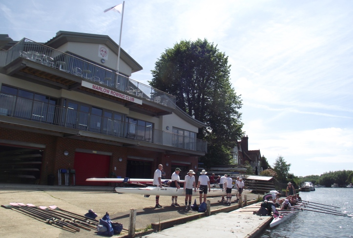 Auriol Kensington veterans outside the new Marlow building in 2016.